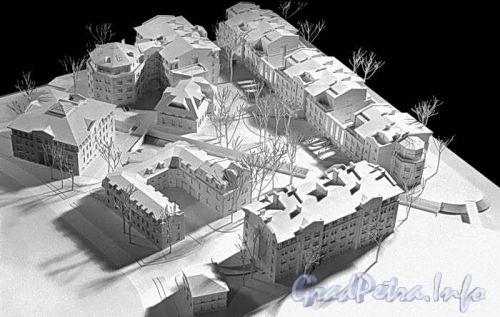 2-я Березовая аллея, д. 13-15. Элитный жилой комплекс. Макет. Фото с сайта архитектурной мастерской «Евгений Герасимов и партнеры»