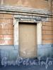 Конногвардейский бул., д. 21. Замурованный дверной проем ограды. Фото июнь 2010 г.