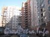Брестский бульвар, дом 11 / улица Маршала Захарова, дом 36. Общий вид со стороны двора части дома, идущей параллельно Брестскому бульвару. Фото март 2012 г.