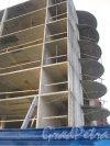 Брестский бульвар. Строящееся здание на пересечении с Ленинским проспектом. Фото декабрь 2013 г.