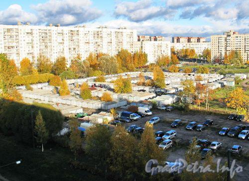Сиреневый бульвар, д. 1. Гаражный кооператив. Фото октябрь 2010 г.