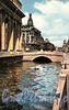 Канал Грибоедова в районе Казанского моста. Фото Б. Круцко, 1970 г.