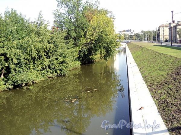 Черная речка на участке от нового моста в створе Карельского переулка в сторону Коломяжского моста. Фото август 2011 г.