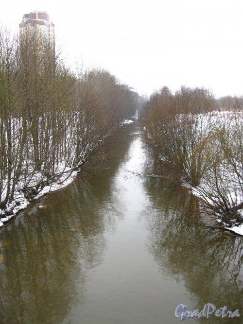 Перспектива реки Оккервиль от Клочкова моста в сторону улицы Ворошилова. Фото февраль 2013 г.