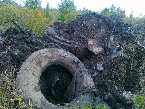 Многолетняя свалка на реке Кузьминке. Фото сентябрь 2013 года.