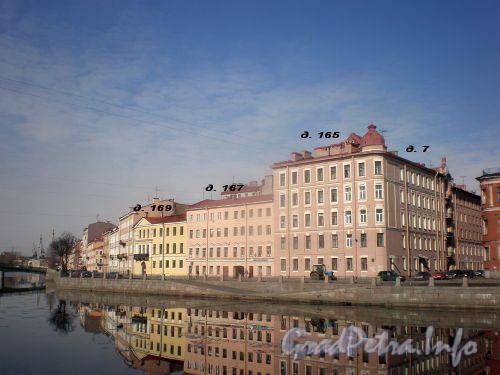 Река Фонтанка. Дома №№165-169 по наб. р. Фонтанки. Апрель 2009 г.