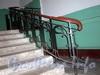 16-я линия В.О., д. 9. Жилой дом Александровской мужской больницы. Решетка перил лестницы. Фото октябрь 2009 г.