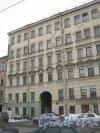 6-я линия В.О., дом 47. Общий вид с 7-й линии В.О. на фрагмент фасада дома. Фото 12 февраля 2013 г.