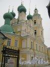 7-я линия В.О., дом 68. Общий вид здания Церкви Благовещения Пресвятой Богородицы с 7-й линии. Фото 12 февраля 2013 г.