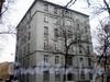 14-я линия В.О., д. 1, лит. А / Иностранный пер., д. 8.  Бывший доходный дом. Общий вид здания. Фото март 2009 г.