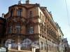 8-ая линия В.О., д. 61. Здание бывшего Благовещенского синодального подворья. Церковь св. Николая Чудотворца. Библиотека СЗАГС. Фасад здания. Фото апрель 2009 г.