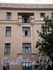 14-я линия В.О., д. 11 / Большой пр., В.О., д. 38. Доходный дом Ю.К.Додоновой. Фрагмент фасада по линии. Фото август 2009 г.