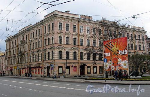 1-я линия В.О., д. 18 / Большой пр. В.О., д. 2. Доходный дом И. В. Голубина (И. И. Зайцевского). Общий вид здания. Фото май 2010 г.