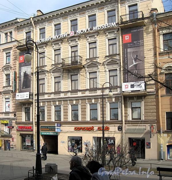 6-я линия В.О., д. 29 / Средний пр., д. 28. Правый корпус по 6-й линии. Фасад здания. Фото апрель 2011 г.