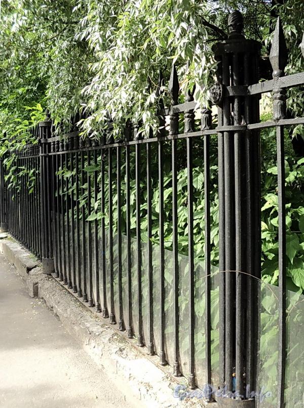Фрагмент ограды вдоль участков домов 33 и 35 по 6-й линии В.О. Фото июнь 2010 г.