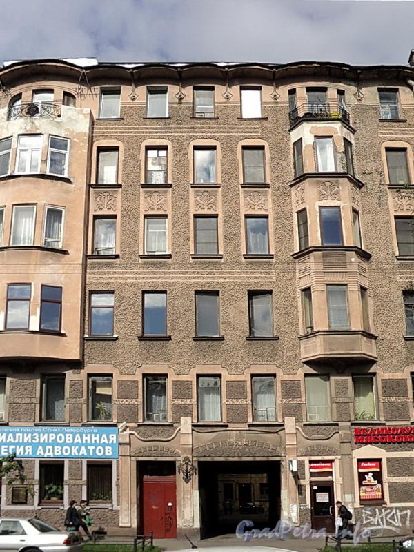 6-я линия В.О., д. 41. Фасад левой части здания. Фото июнь 2010 г.