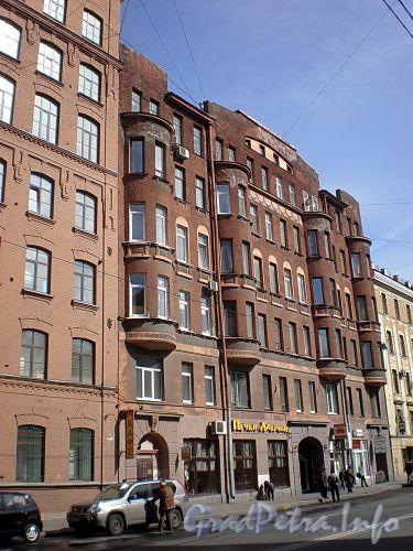 8-я линия В.О., д. 75. Бывший доходный дом. Фасад здания. Апрель 2009 г.