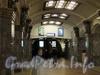 Перронный зал станции метро «Кировский Завод». Фото март 2011 г.