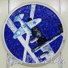 Станция метро «Комендантский проспект». Мозаичный медальон из серии «Воздушный бой в небе Ленинграда». Фото апрель 2012 года.