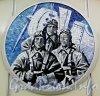 Станция метро «Комендантский проспект». Мозаичный медальон из серии «Летчики-герои». Фото апрель 2012 года.