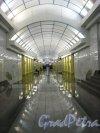 Станция метро «Международная». Общий вид подземного зала. Фото 2 февраля 2013 г.