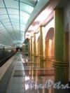 Станция метро «Международная». Перронный зал. Фото 2 февраля 2013 г.