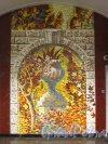 Центральная мозаика панно «Осень в парке» в торце главного подземного зала станции метро Бухарестская. Фото февраль 2013 г.