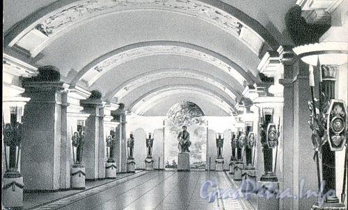 Станция метро «Пушкинская». Перронный зал. 1965 г. (набор открыток)