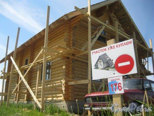Коттеджный поселок «Феликсово». Строительство коттеджей. Фото лето 2012 г.