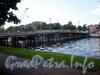 Временный дублер 3-го Елагина моста через Большую Невку. Фото июнь 2009 г.