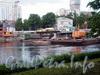 Работы по реконструкции 3-го Елагина моста. Фото июнь 2009 г.