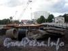 Работы по строительству нового 3-го Елагина моста. Фото июнь 2009 г.