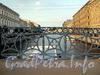 Фрагмент ограждения Синего моста. Фото август 2010 г.