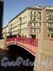 Красный мост через реку Мойку. Фото июнь 2010 г.