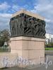 Монументальный рельеф «Молодость» у Молодежного моста через Карповку. Фото сентябрь 2010 г.