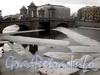 Ледоход на Фонтанке в районе моста Ломоносова. Фото март 2010 г.
