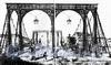 Цепной Пантелеймоновский мост. Литография К. П. Беггрова по рисунку Т. Третера, 1820-е годы (из книги «Улица Пестеля (Пантелеймоновская)»)