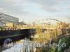Строительство нового  моста через Обводный канал. Фото май 2011 г.