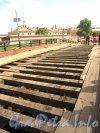 Ремонт деревянного настила Кронверкского моста. Фото июль 2012 г.