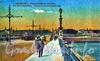 Вид на Троицкую площадь с Троицкого моста. Старая открытка.