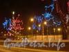 Новогоднее украшение предмостовой площади Володарского моста. 2009 г.