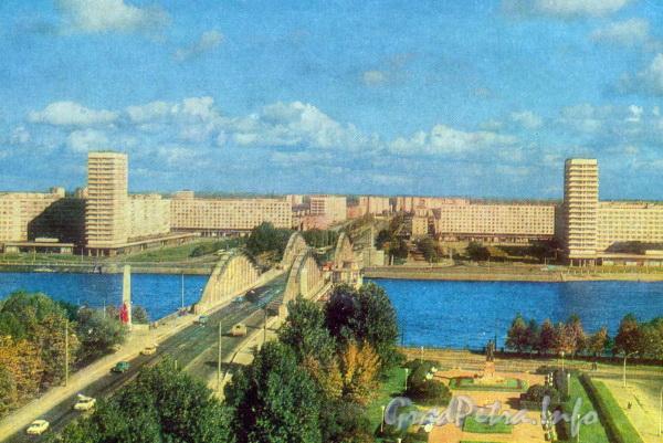 Володарский мост. Открытка. Фото В. П. Мельникова, 1980-е годы.