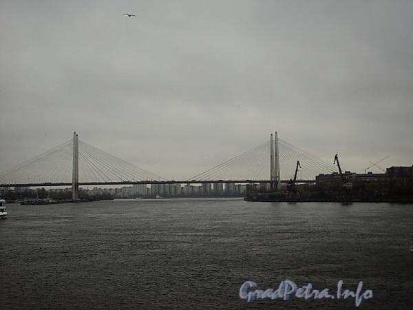Большой Обуховский вантовый мост через Неву. Фото октябрь 2010 г.