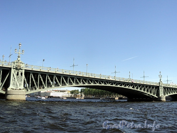 Пролеты Троицкого моста. Фото июнь 2011 г.
