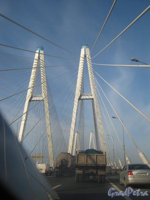 Большой Обуховский мост. Общий вид с КАД. Фото 2 октября 2012 г.