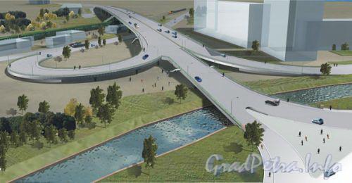 Проект Коломяжского путепровода. Фото с сайта www.lptp.ru