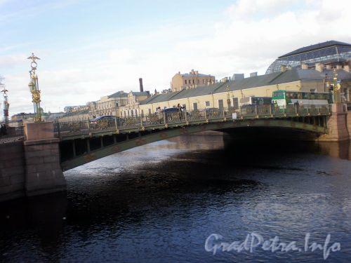 Пантелеймоновский мост. Вид с 1-ого Инженерного моста. Март 2009 г.