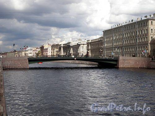 Лештуков мост через реку Фонтанку. Фото июль 2009 г.