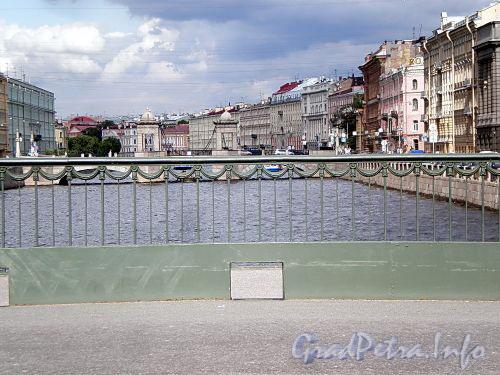 Ограда Лештукова моста. Фото июль 2009 г.