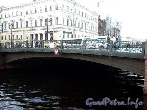 Зеленый мост через реку Мойку по оси Невского проспекта. Фото октябрь 2009 г.